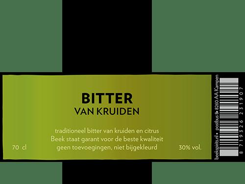 etiket BEEK Bitter van kruiden