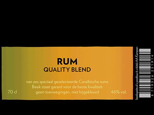 etiket BEEK Rum Quality Blend