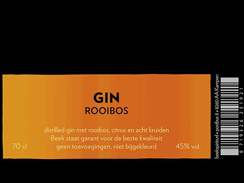 etiket BEEK Gin Rooibos