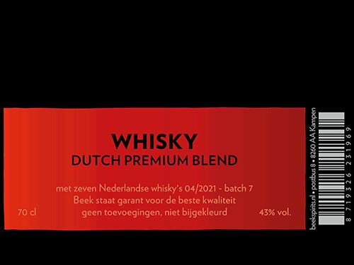 etiket Beek Whisky Dutch Blend batch 7