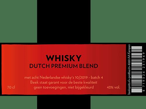 etiket Beek Dutch Premium Blend batch 4