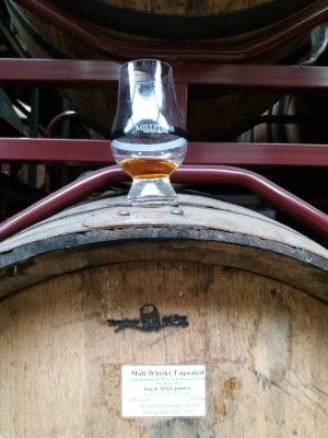 70 jaar oud PX vat met Millstone 2014 triple distilled whisky