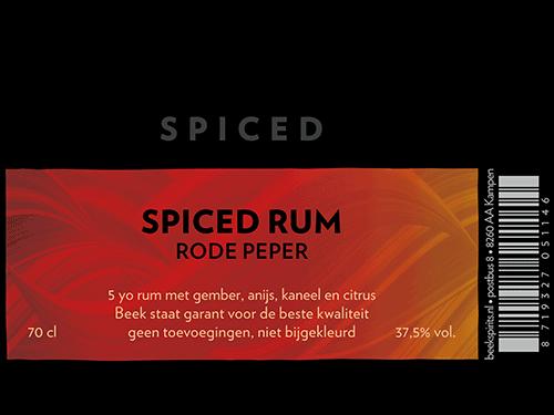 Beek Spiced Rum etiket