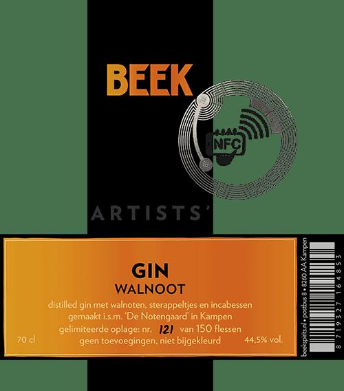 etiket Artists' Gin Walnoot