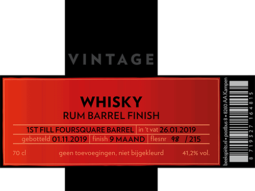 Beek etiket vintage whisky 003 rum barrel finish Foursquare