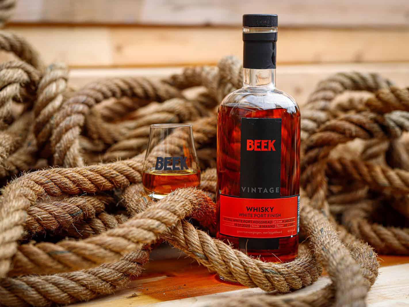 Whisky met White Port finish gebotteld