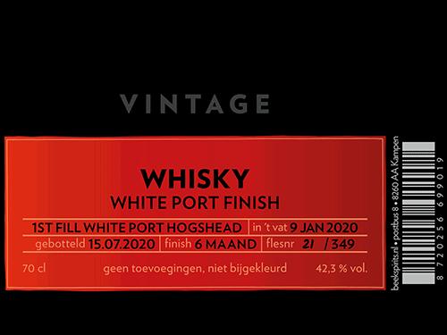 Etiket Beek Whisky Vintage White Port Finish 2020