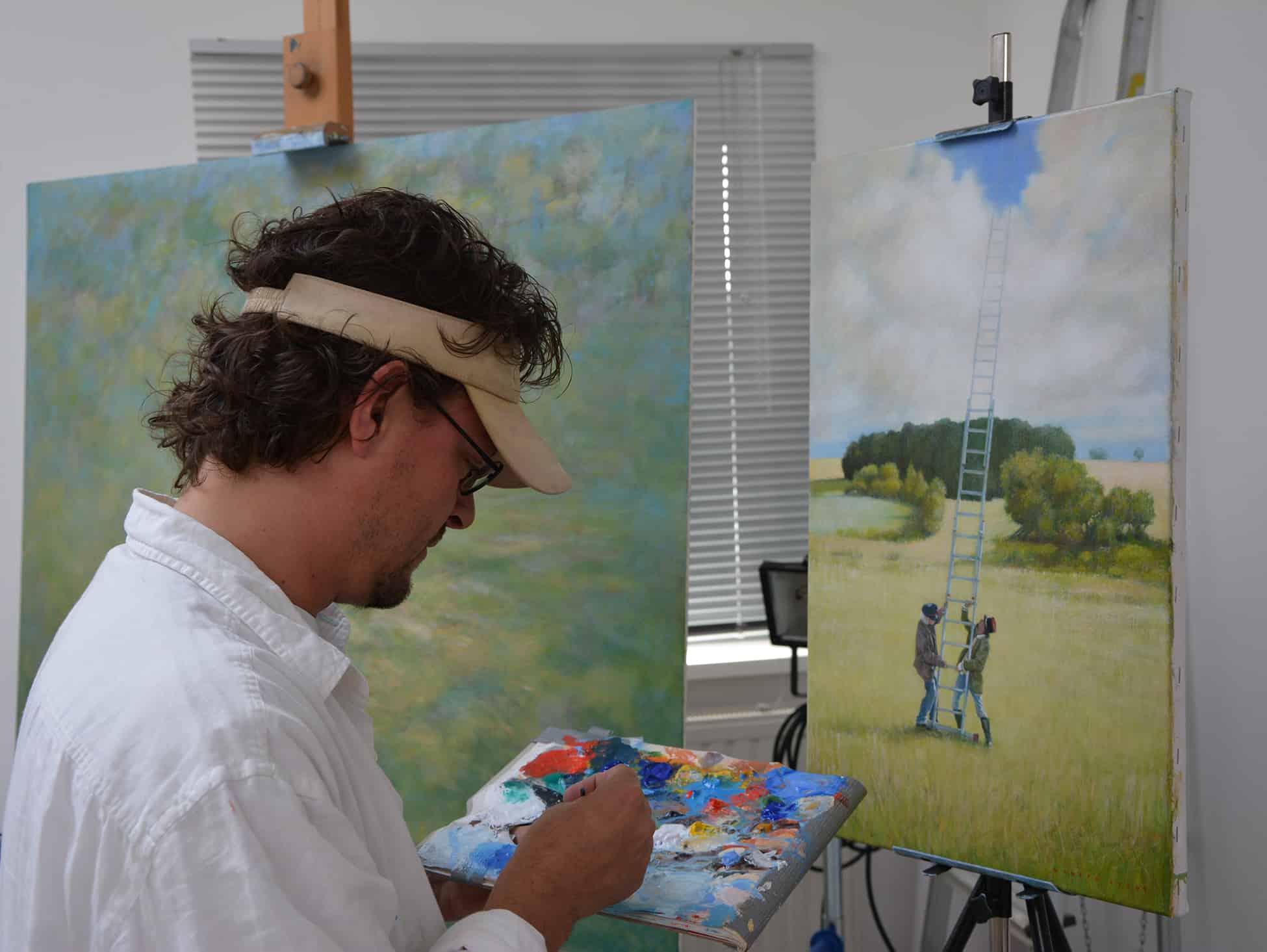 Wouter Berns in zijn atelier in Kampen