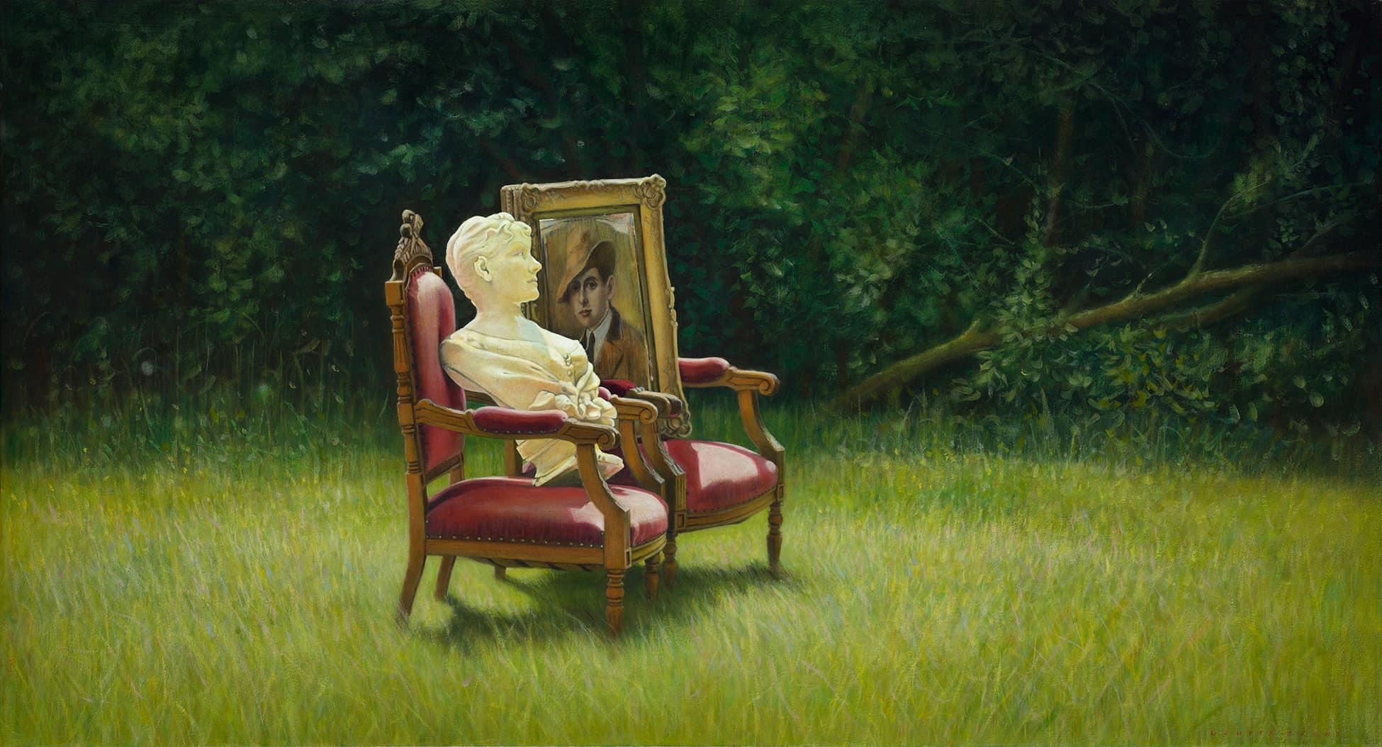 Wouter Berns, Les amants reunis, 65 x 120 cm, acryl op doek