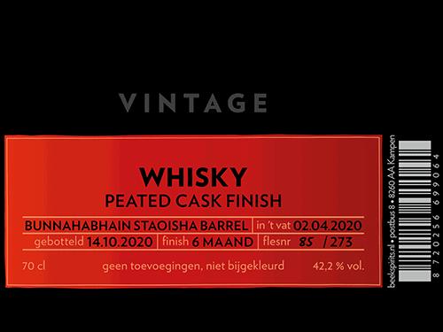 Beek Whisky Vintage Peated Cask Finish 2020 etiket