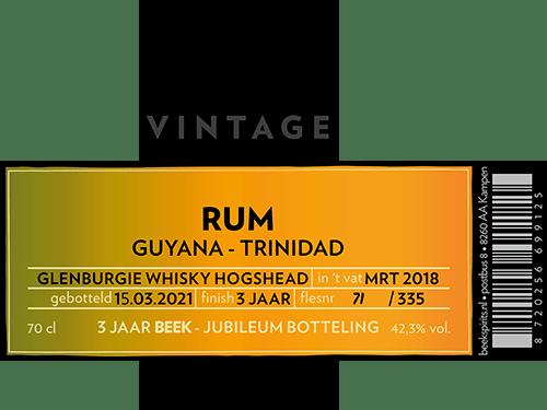 BEEK Vintage Whisky PX Cask Finish 2020 etiket