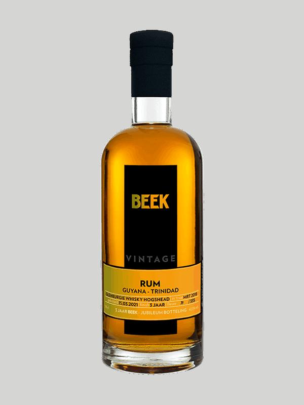 BEEK Rum Vintage Guyana-Trinidad Whisky finish (jubilieumbotteling)