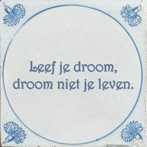 Leef je droom, droom niet je leven.